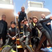 カラカラ先生ダイビングリピーターのゲストさん達です!