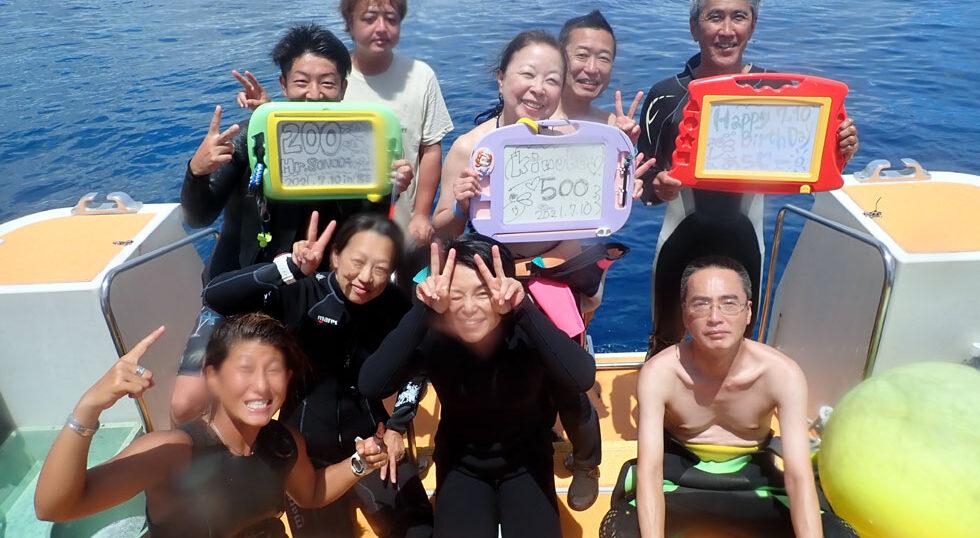 カラカラ先生ダイビング 記念ダイビング