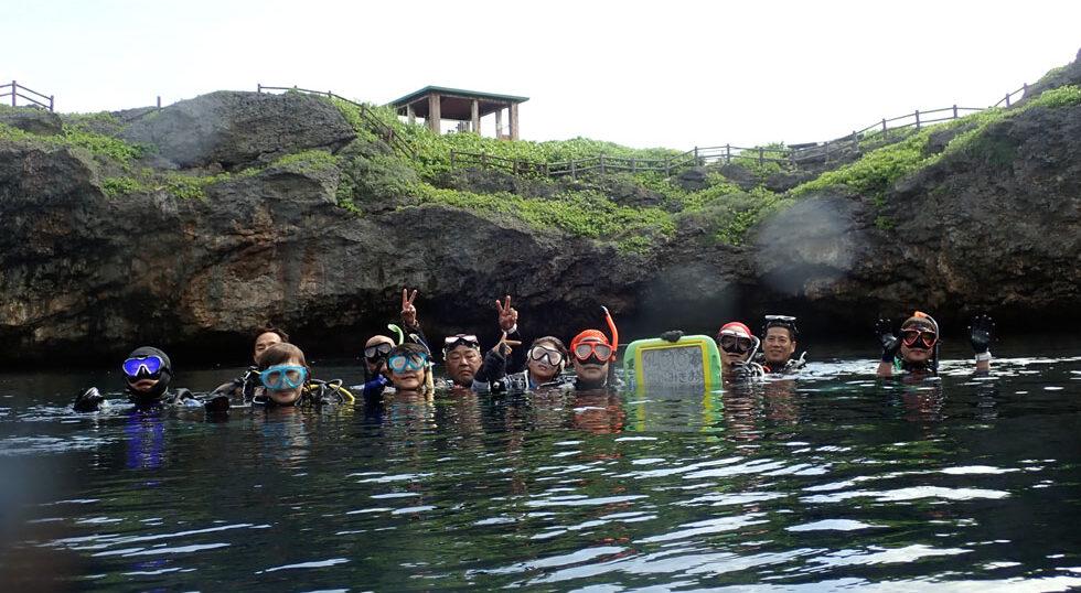 カラカラ先生ダイビング 通り池 100本記念