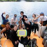 カラカラ先生ダイビング初体験ダイビングで誕生日☆彡